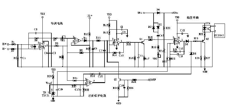 因此jl2 升高,通过电源b内部均流电路的控制迫使其输出电压升高,io2